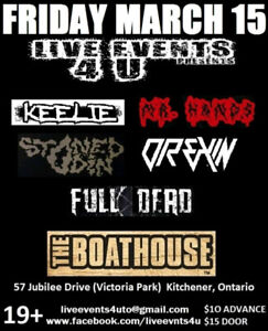 Coming up tonight, Friday March 15 at The Boathouse!