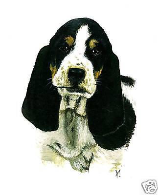 BASSET HOUND RYTA DOG HUSH PUPPY ART PRINT OF PAINTING 8x10 portrait realism  Basset Hound Dog Portrait