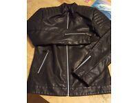 Faux Leather Jacket, Brand New Unworn