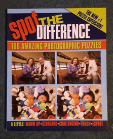 Spot the Difference challenge book - 5 difficulty levels