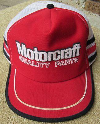 Motorcraft Quality Parts Vintage Trucker Baseball Hat Mesh Cap Made In USA Snap