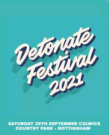 1 x Detonate Tickets 25th September 2021