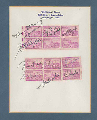 George H W  Bush   Stamp S  Signed With Co Signers