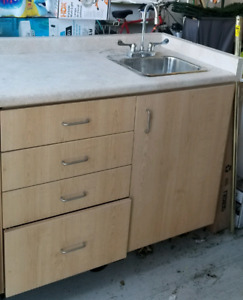 Good quality cabinet with sink and faucet