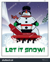 THE SNOWMAN! SNOW CLEARING  769-9192