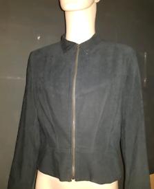 Ladie black swade casual jacket