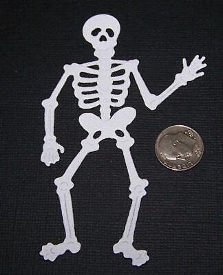4 Halloween Skeleton PAPER Die Cuts - Halloween Skeleton Paper Crafts