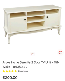 Serenity wide TV storage unit only £125. CLOSING DOWN SALE. Furniture