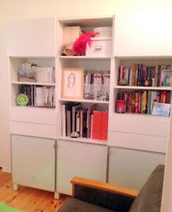 Bibliothèque / unité de rangement BESTA de IKEA, comme neuf