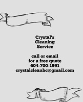 Crystals cleaning services