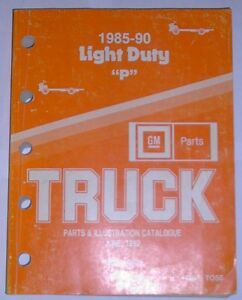 1985 to 1990 Series P Chev & GMC trucks Parts & Illustrations