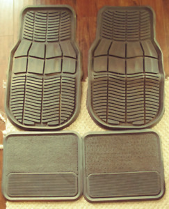 Set of 4 vehicle floormats, fronts are rubbermaid