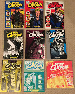 Steve Canyon by Milton Caniff 9 books 1947 to 1955