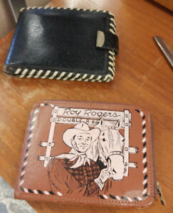 Vintage Roy Rogers & Snoopy Leather Wallets
