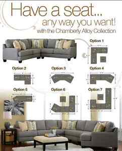 ASHLEY CHAMBERLY ALLOY SECTIONAL FROM $1199