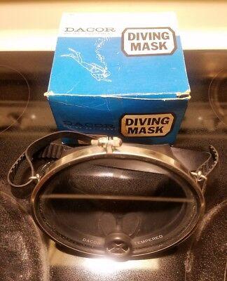 vintage dacor tempered glass diving mask DM12 Triton