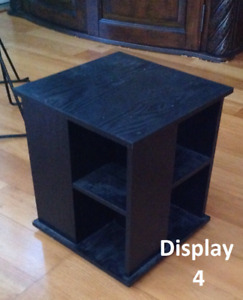 4-Sided Black Spinning Countertop Tower