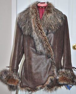 Unique Laura Petite Brown Winter Jacket Brand New W/Tags Size S