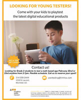 Looking for Grade 1 or 2 students to test an app!!!