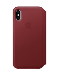 Apple - iPhone XS Leather Folio - (PRODUCT)RED. MRXL2LL/A