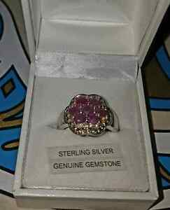 Sterling silver and Ruby size 7