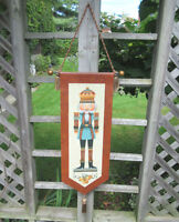 Tole Painted NUTCRACKER PRINCE Banner / Wall Hanging