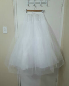 WHITE CRINOLINE - Lenght 39 INCHES