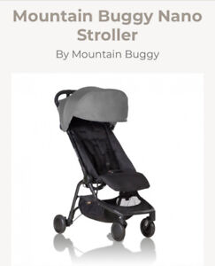 Mountain Buggy Nano Stoller - snack tray/; weather covers X 2