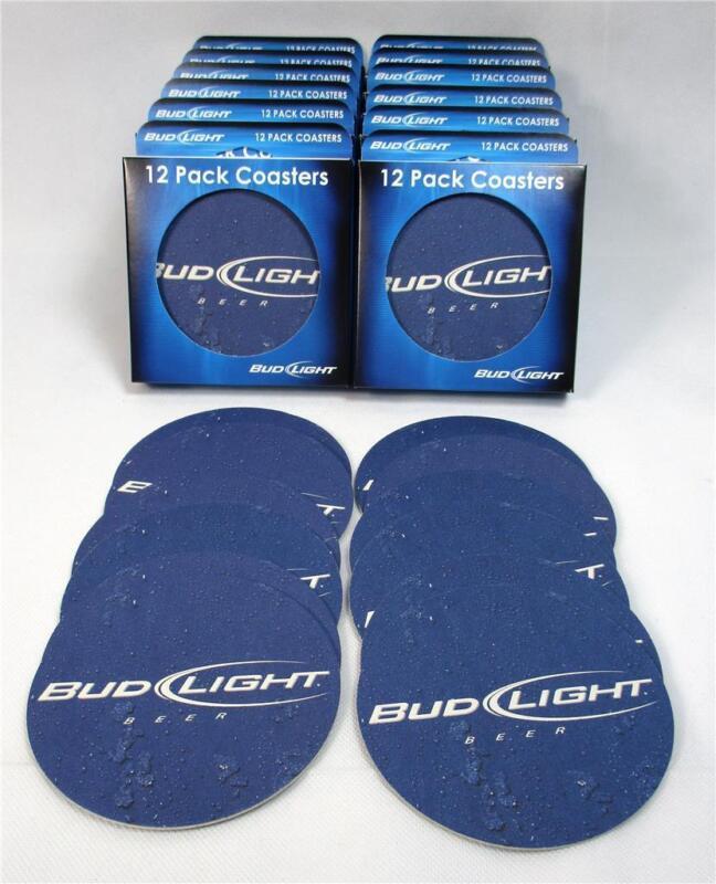 Lot Of 144 Bud Light Bar Coasters Pub Budweiser Busch Beer Wedding Parties A-19