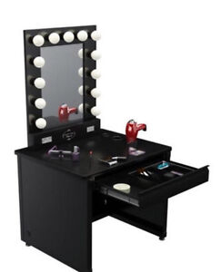 Hollywood style vanity makeup and hair  desk