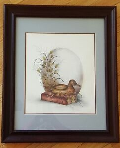 Framed Duck Painting