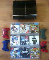 PS3 9 GAMES 4 CONTROLLERS IN SPRINGHILL
