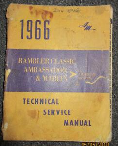 1966 AMC Rambler Classic Marlin Ambassador Service Manual