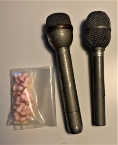 Two Microphones and a number of Earplugs