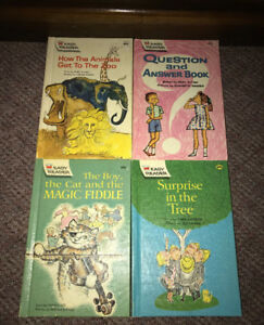 Vintage 1960's Wonder Books Easy Reader Book Lot of 4