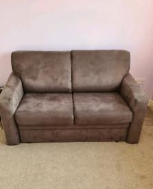 John Lewis 2-seater sofa bed, chocolate Brown