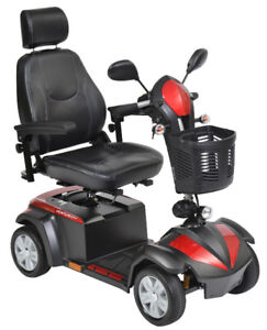 Drive Ventura Power Mobility Scooter, 4 Wheel, 18″Seat -Free Del