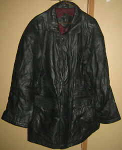 Moores Leather Coat - XL, like new