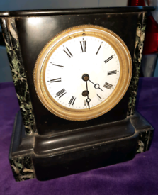 Antique slate and marble clock £45