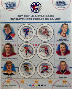 Canada Post 50th NHL Hockey All-Star Game Stamps - Gretzky, Howe