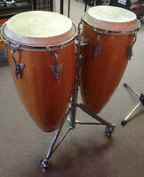 LP Latin Percussion Wood Congas w/ Stand