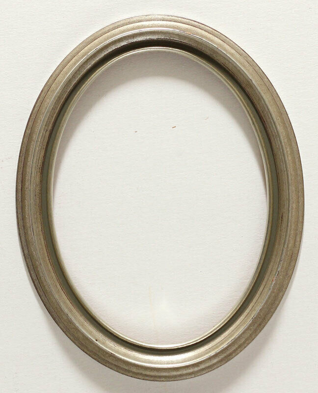 Vintage Decorative 7.5 x 9.5 Wooden Picture Frame Silver Made in Germany Antique