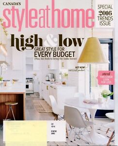 StyleatHome Magazine  Style at Home Back issues. Cornwall Ontario image 1