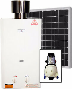 Eccotemp L10 Tankless Water Heater (w/ 12V pump & 50W Solar Kit)