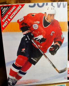 Wayne Gretzky Team Canada Olympics Wood Mounted Poster