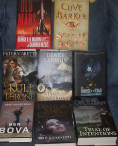 SCIENCE FICTION, HORROR, FANTASY HARD COVERS ALL $5 EACH!! NEW