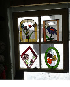 "Stained Glass Christmas Tree -- Hand Made -- Approx. 4""- 6"" high London Ontario image 4"
