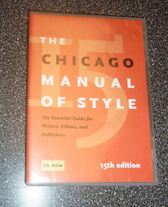 Chicago Manual of Style 15th edition CD-ROM