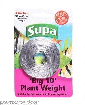 Supa 'Big 10' Plant Weight 10ft Lead Strip 3 metres Long Aquarium Fish Tank