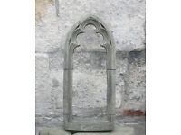 Stone Gothic Small Window Frame in Reconstituted Limestone - Christmas Decor